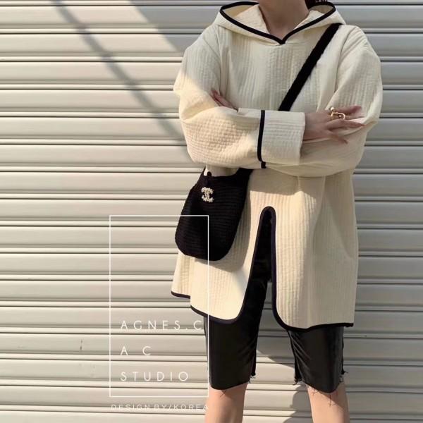 016黑白型格連帽超薄車線隔棉上衣