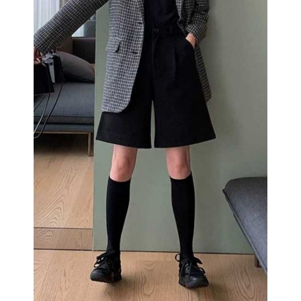 027秋冬高腰百搭五分單絨短褲可以著到好靚好瘦架