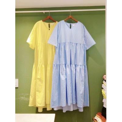 Flicka 間條大裙擺連身裙兩色都非常靚超抵著