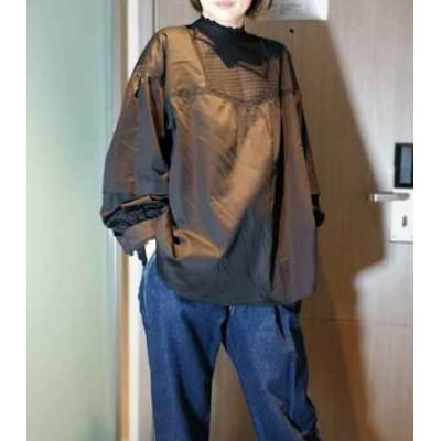 Flicka企領黑/白高針紡織裇上衣 兩色