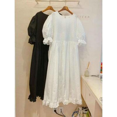 Flicka 仙氣淨白淨黑連身裙
